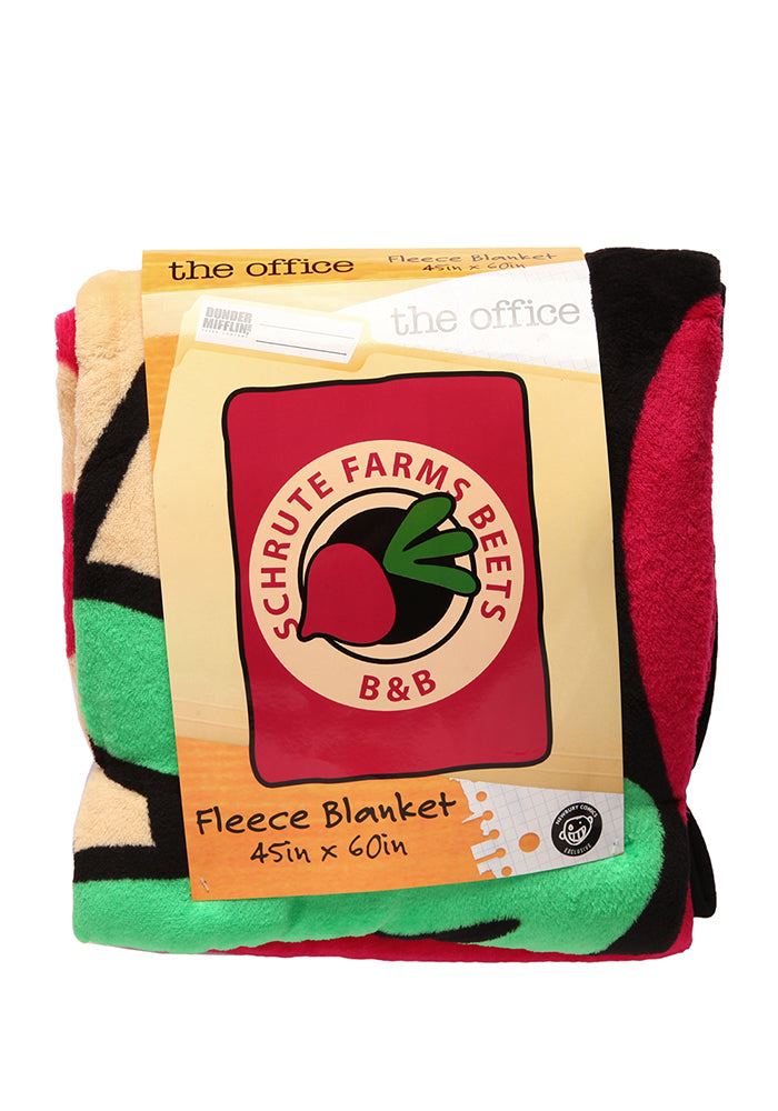 THE OFFICE Schrute Farms Beets B&B Fleece Blanket