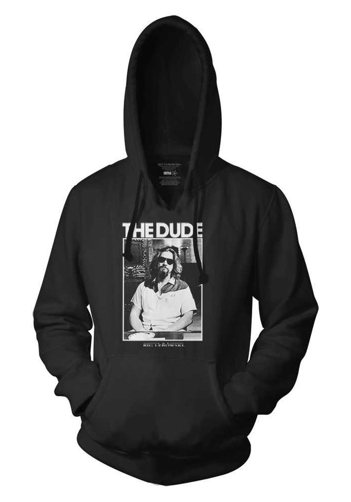 THE BIG LEBOWSKI The Dude B&W Photo Portrait Pullover Hoodie
