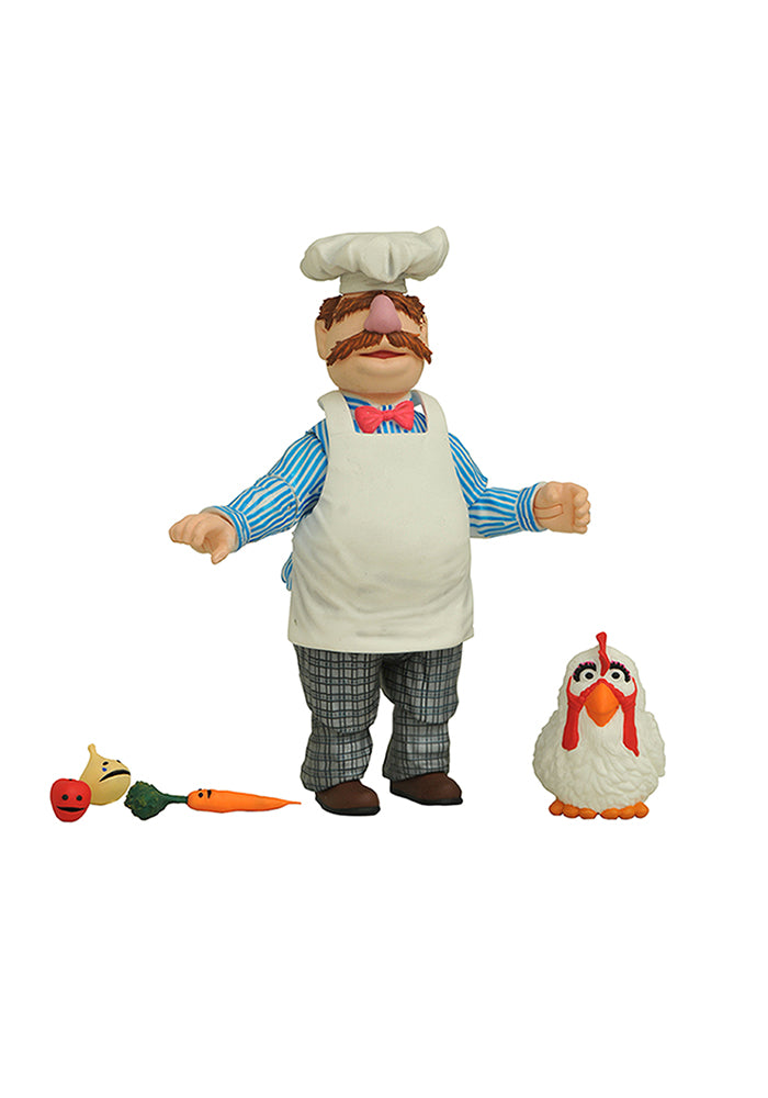 THE MUPPETS Muppets Select 7-Inch Scale Action Figure 2-Pack - Swedish Chef & Chicken