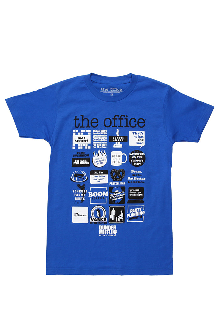THE OFFICE The Office Icons T-Shirt - Blue