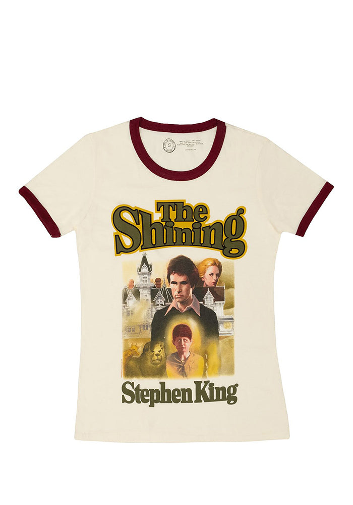 THE SHINING Out Of Print: The Shining Book Cover Women's Ringer T-Shirt