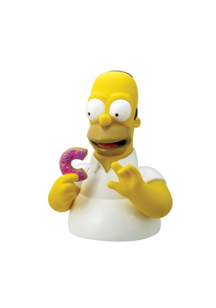 THE SIMPSONS Homer With Donut Bust Bank