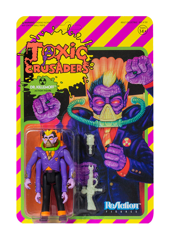 THE TOXIC AVENGER Toxic Crusaders ReAction Figure - Dr. Killemoff