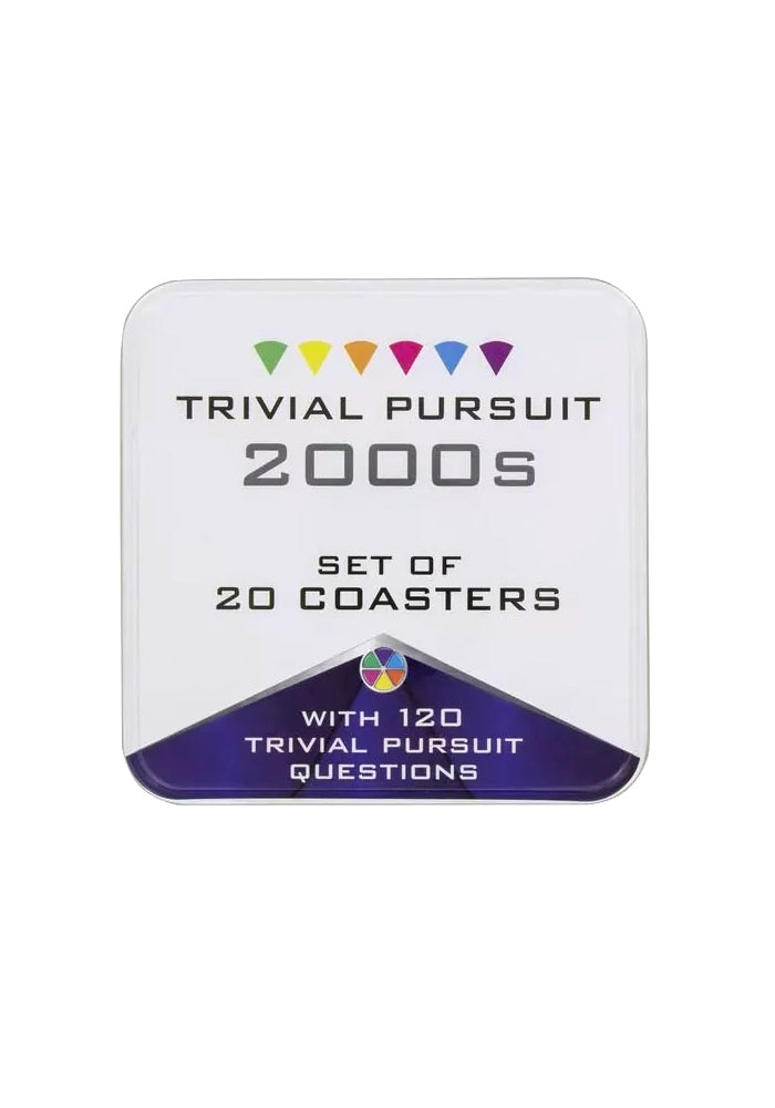 TRIVIAL PURSUIT Trivial Pursuit 2000's Coasters In Tin