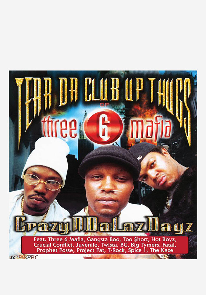 TEAR DA CLUB UP THUGS OF THREE 6 MAFIA CrazyNDaLazDayz 2LP (Color)