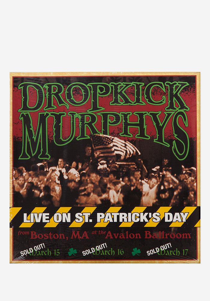 THE DROPKICK MURPHYS Live on St. Patrick's Day from Boston, MA 2 LP