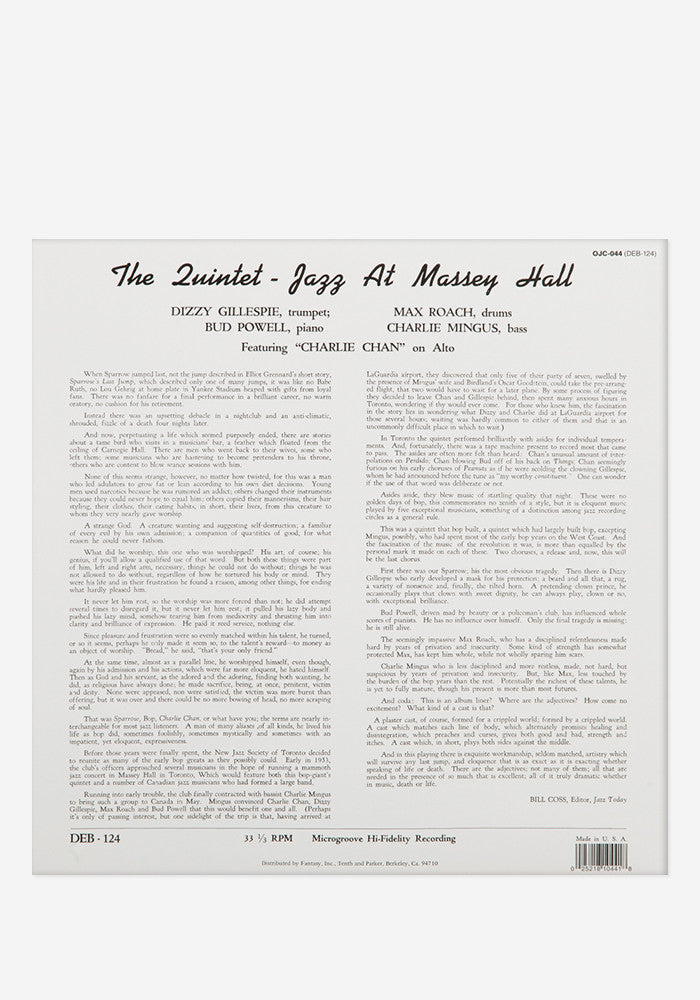 THE QUINTET Jazz at Massey Hall Exclusive LP