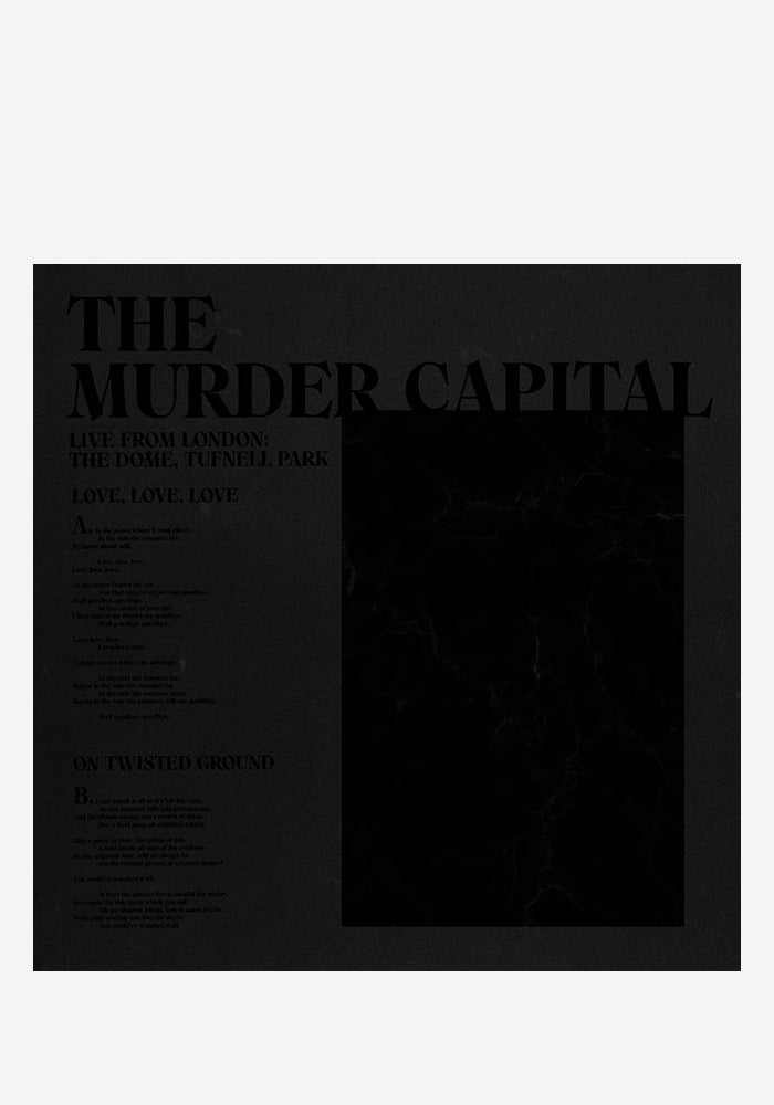 "THE MURDER CAPITAL Live From London: The Dome, Tufnell Park 12"" Single"