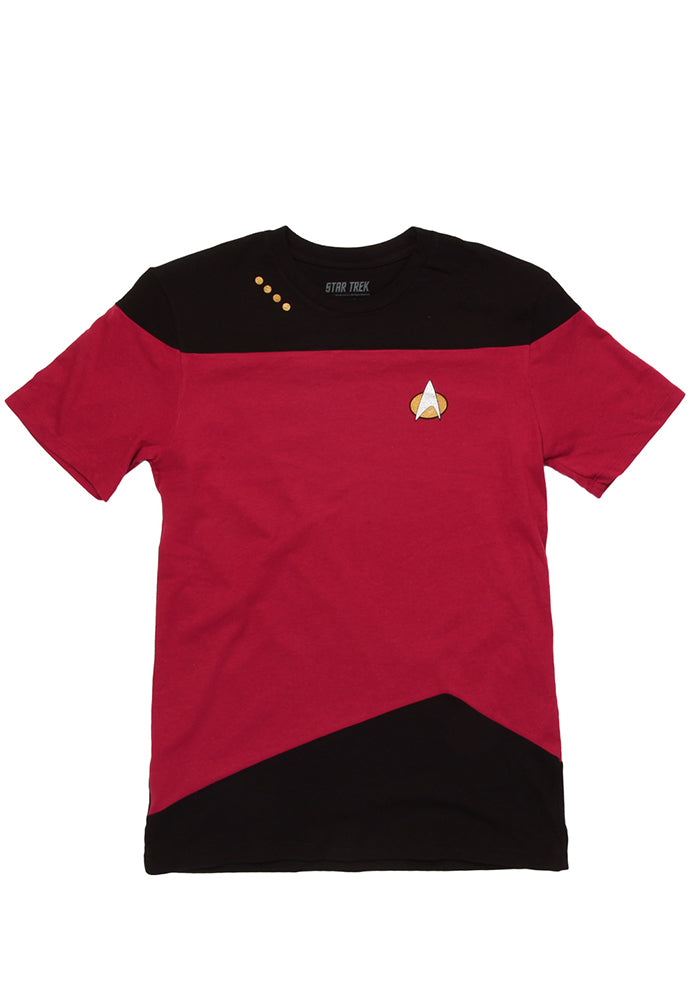 STAR TREK The Next Generation Red Command Uniform T-Shirt
