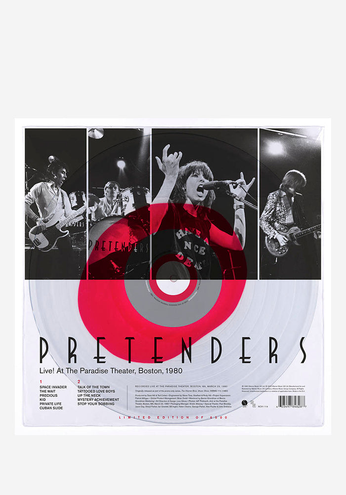 THE PRETENDERS Live! At The Paradise LP (Color)