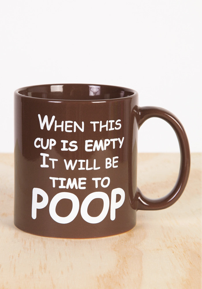 WICKED FUN MUGS Time To Poop Coffee Mug
