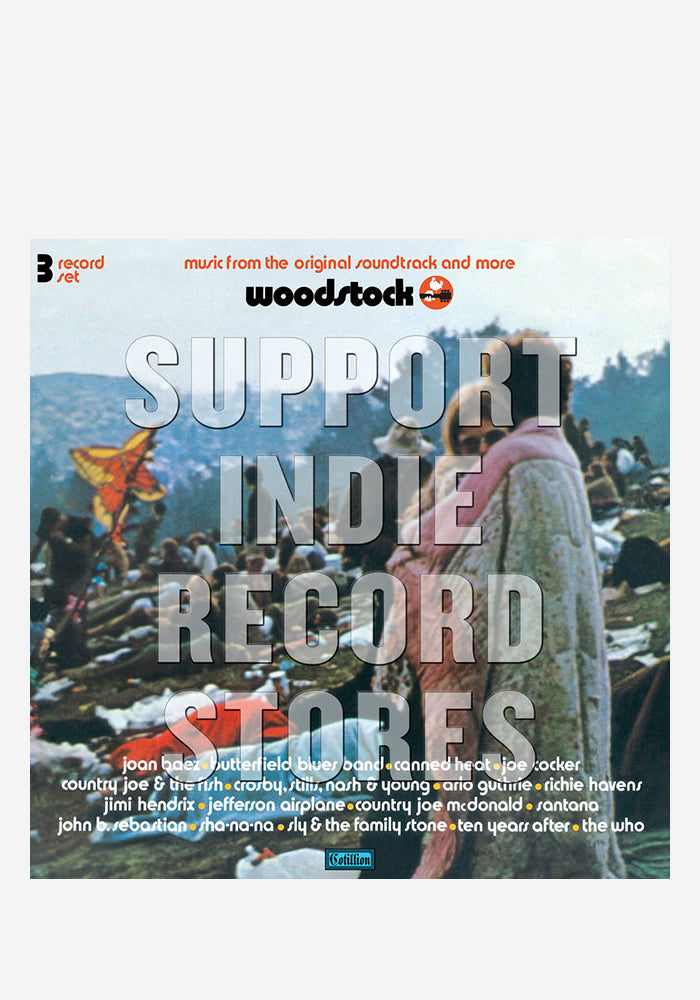VARIOUS ARTISTS Woodstock Mono PA Version 3LP