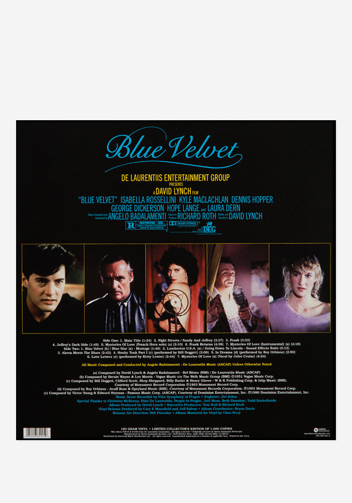 ANGELO BADALAMENTI Soundtrack - Blue Velvet Exclusive LP