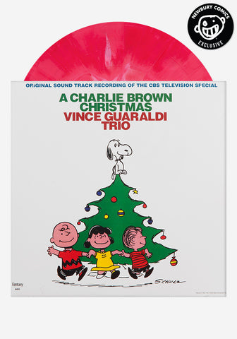 VINCE GUARALDI TRIO A Charlie Brown Christmas Exclusive Pink Ribbon Candy LP