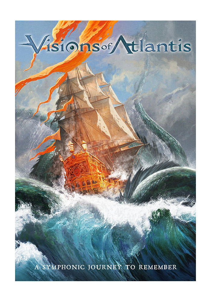 VISIONS OF ATLANTIS A Symphonic Journey To Remember CD/DVD/Blu-Ray (Autographed)