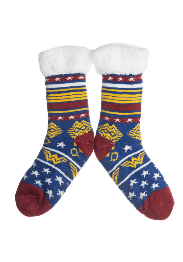 WONDER WOMAN Wonder Woman Logo Cozy Slipper Socks