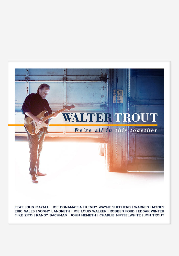 WALTER TROUT We're All In This Together With Autographed CD Booklet