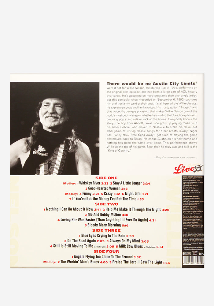 WILLIE NELSON Willie Nelson Live From Austin, TX Exclusive 2LP