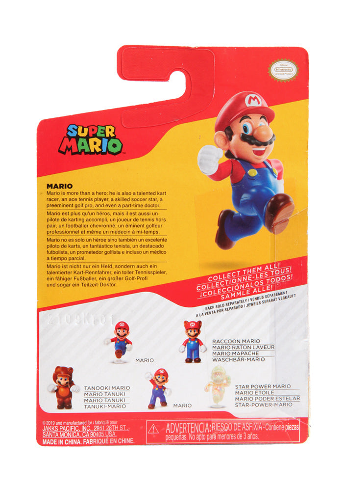 SUPER MARIO BROS World of Nintendo 2.5-Inch Action Figure - Mario (Running)
