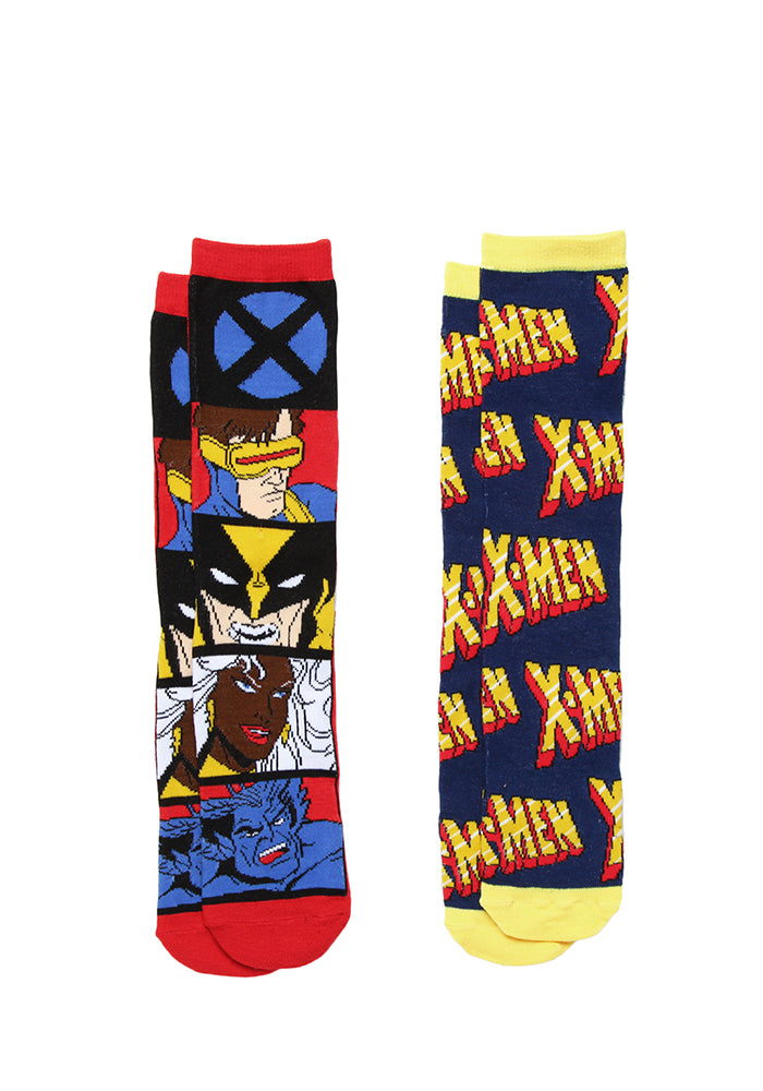 X-MEN X-Men Comic Panels Socks 2-Pack