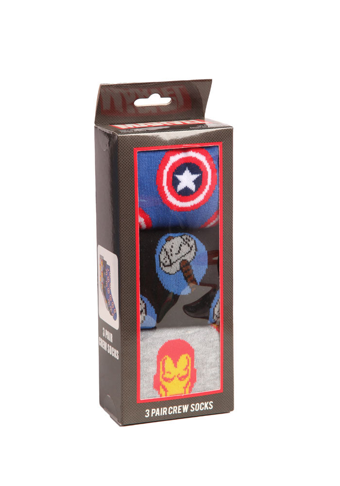 AVENGERS Avengers Trio Crew Socks 3-Pack Box