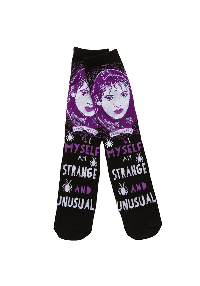BEETLEJUICE Strange And Unusual Lydia Deetz Crew Socks