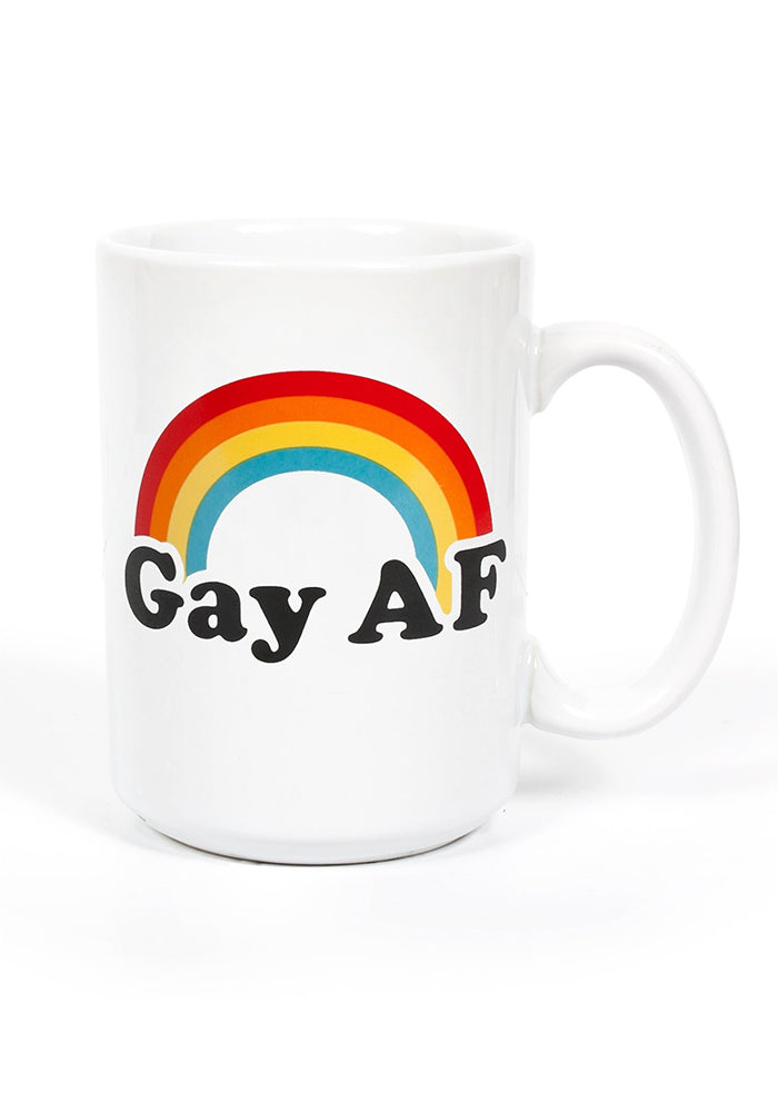HEADLINE Gay AF Rainbow Mug