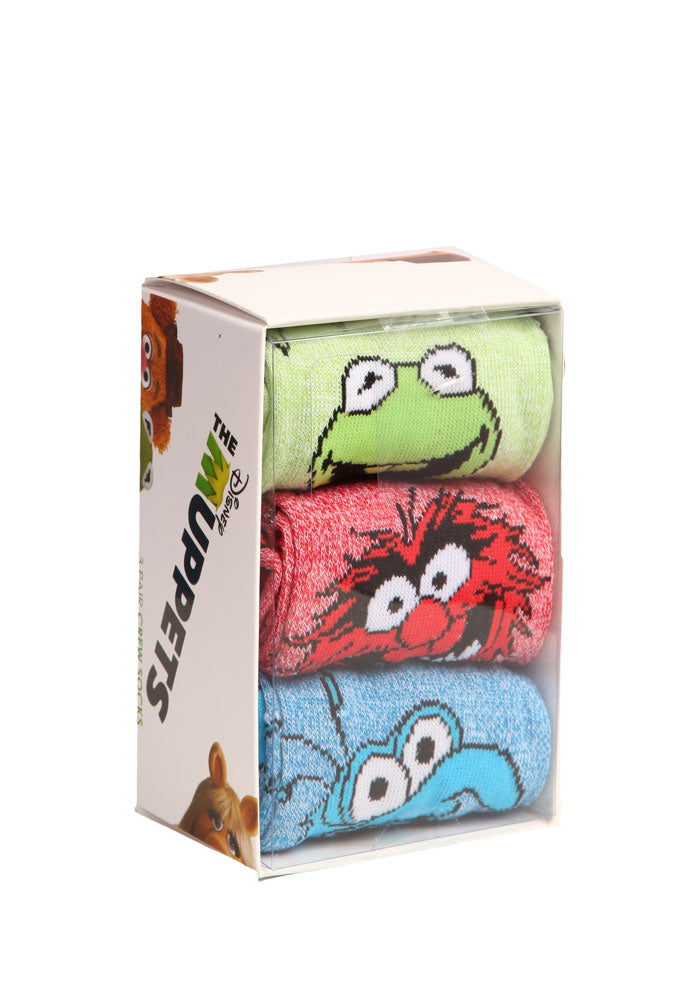 MUPPETS Kermit Animal Gonzo Socks 3-Pack Box