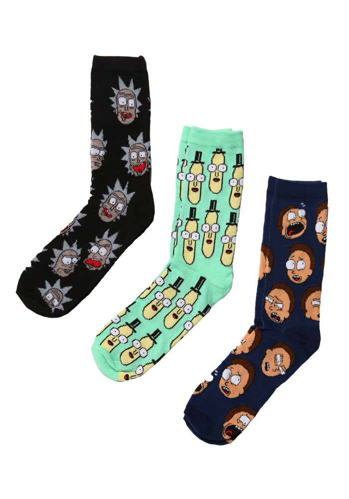 RICK AND MORTY Rick And Morty Character Crew Socks 3-Pack Box