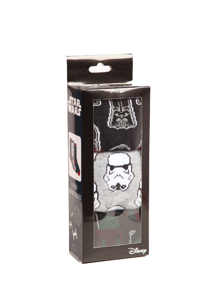 STAR WARS Star Wars Villains Crew Socks 3-Pack Box
