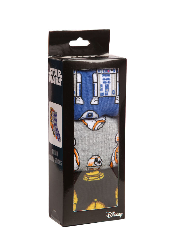 STAR WARS Droids Crew Socks 3-Pack Box