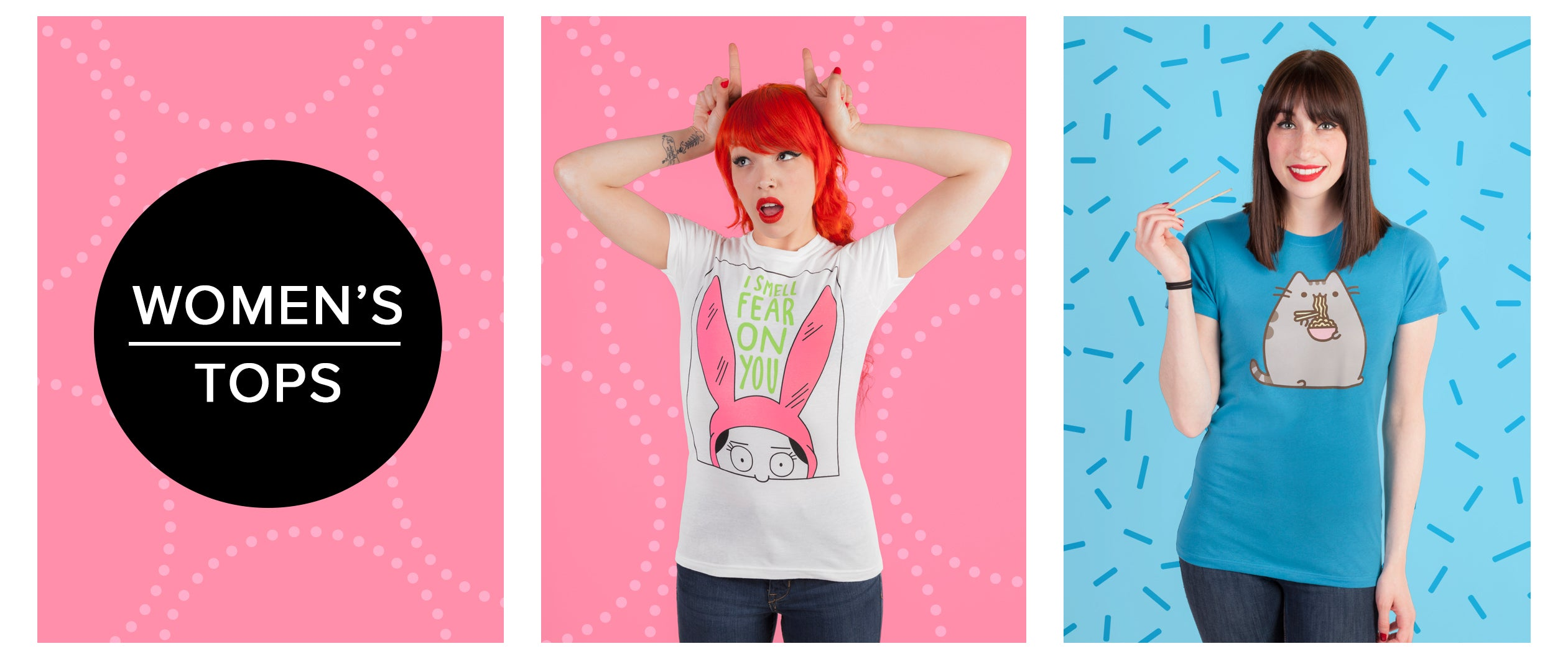 Women's Tops - Bob's Burgers, Pusheen, and more