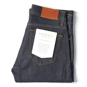 Regular Tapered 14oz Dry Organic Jeans - HAWKSMILL DENIM CO