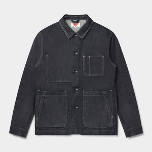 Organic Denim Utility Jacket Mk II (Indigo Dry) Jackets HAWKSMILL DENIM CO