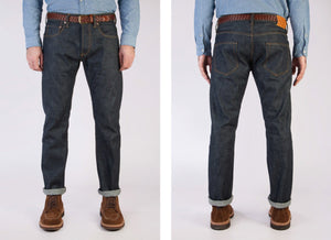 Loose Tapered Japanese Selvedge Jeans (Indigo) - Kaihara Jeans HAWKSMILL DENIM CO
