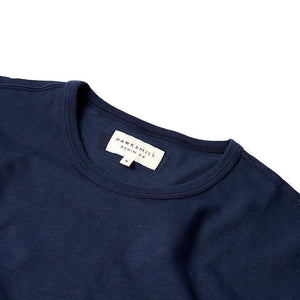 Navy Garment Dyed T Shirt - HAWKSMILL DENIM CO