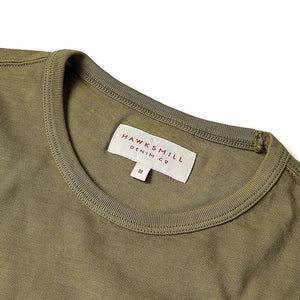 Olive Garment Dyed T Shirt - HAWKSMILL DENIM CO