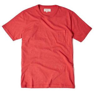 Red Garment Dyed T Shirt - HAWKSMILL DENIM CO