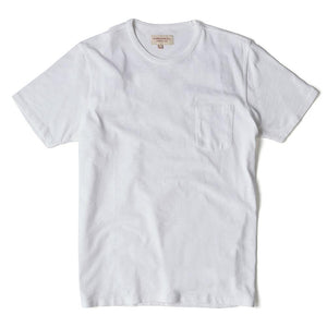 White Garment Dyed T Shirt - HAWKSMILL DENIM CO