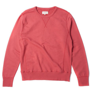 Garment Dyed Sweatshirt Red - HAWKSMILL DENIM CO
