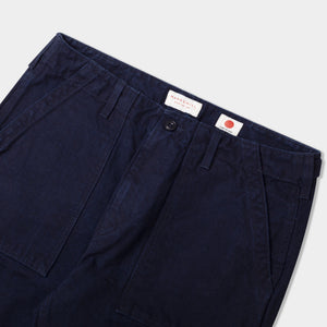 14.5oz Japanese Heavy Slub Cotton Canvas Utility Pants Navy (Indigo) TROUSER HAWKSMILL DENIM CO