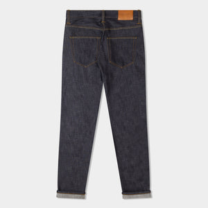 HAWKSMILL X ESQUIRE SLIM TAPERED 14.5oz ISKO ORANGE LISTED ORGANIC SELVEDGE JEANS