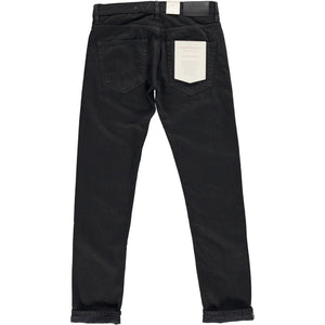 Slim Tapered Candiani Black Soak Selvedge Denim Jeans jean HAWKSMILL DENIM CO