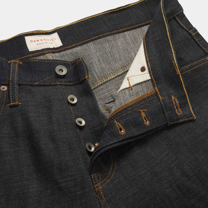 Slim Tapered 14.5oz Red Listed Selvedge Jeans jean HAWKSMILL DENIM CO