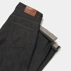 Loose Tapered 14.5oz Orange Listed Organic Selvedge Jeans jean HAWKSMILL DENIM CO