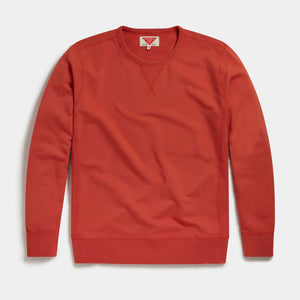 Organic Loopback Sweatshirt (Rust) Sweatshirts HAWKSMILL DENIM CO