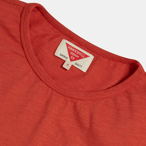 Organic Cotton Slub T-shirt (Rust) T-shirts HAWKSMILL DENIM CO