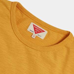 Snake Print Organic Cotton Slub T-shirt (Sunshine Yellow) T-shirts HAWKSMILL DENIM CO
