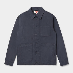 Organic Cotton Waxed Ripstop Utility Jacket Mk II (Navy) Jackets HAWKSMILL DENIM CO