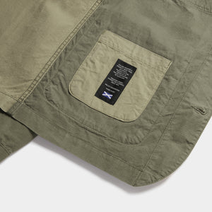 Organic Cotton Ripstop Utility Jacket Mk II (Dusky Green) Jackets HAWKSMILL DENIM CO